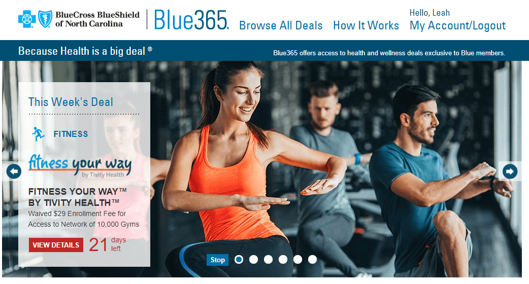 Blue365 through Blue Cross to join Fitness Your Way