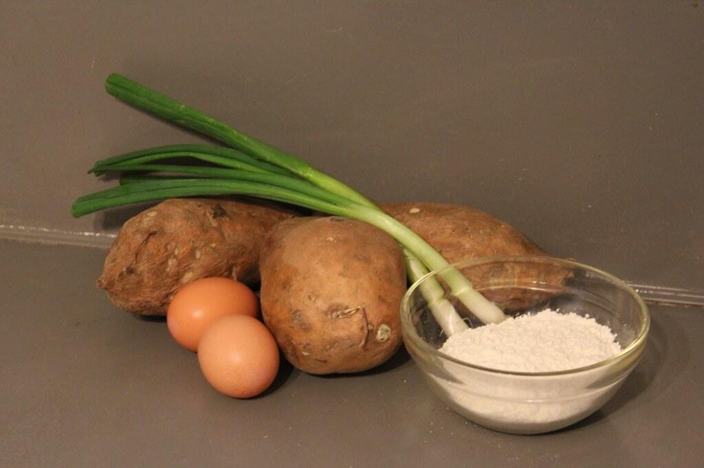 ingredients for sweet potato latkes