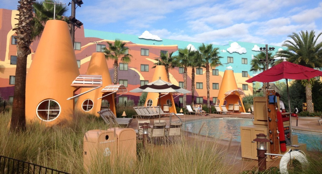 Cars pool with cozy cone cabanas