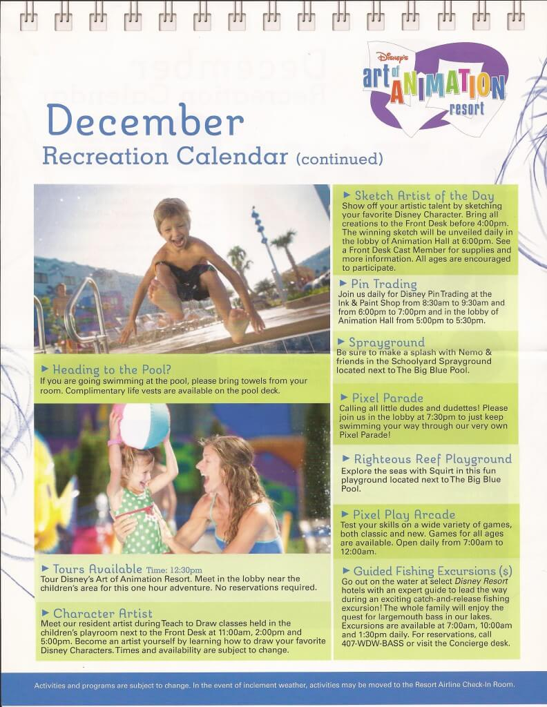 Art of Animation December recreation calendar continued