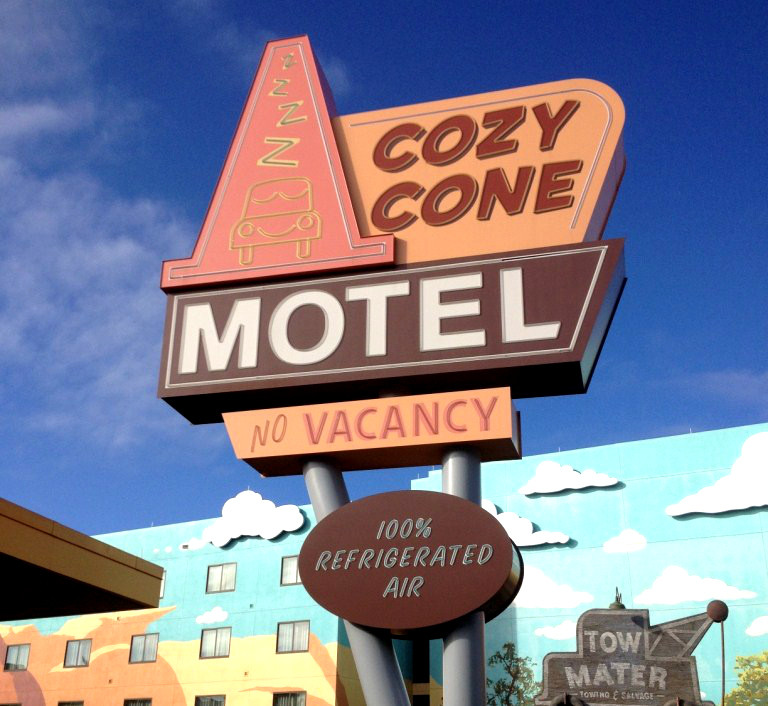 Cars Cozy Cone Motel No Vacancy