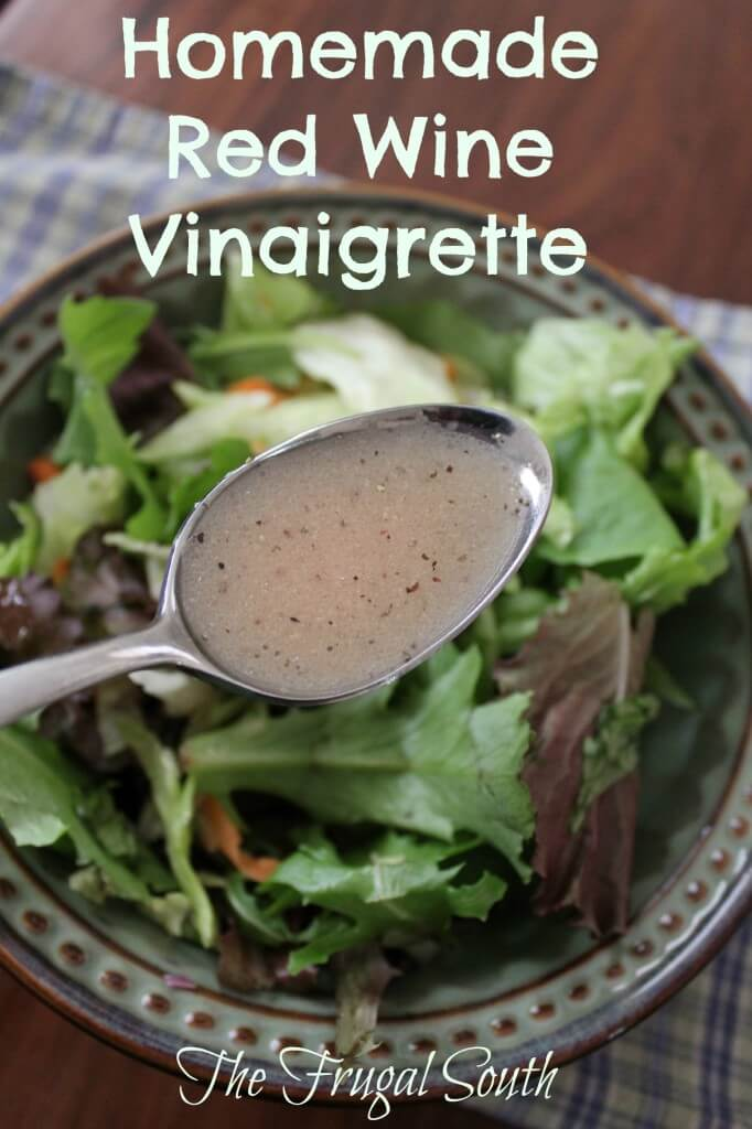 Recipe for Homemade Red Wine Vinaigrette - Better and cheaper than store-bought