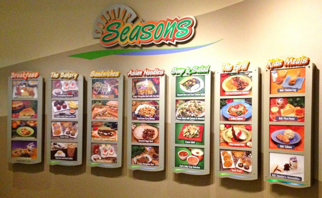 Seasons photo menu wall