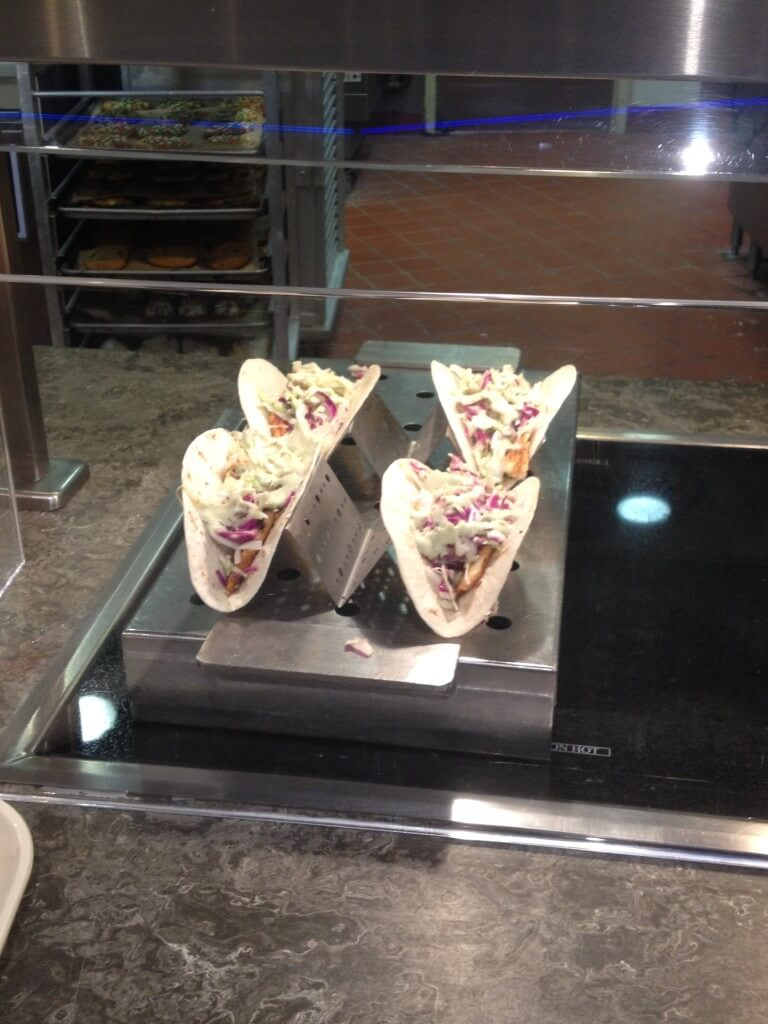 Spicy Fish Tacos at The Grill Station