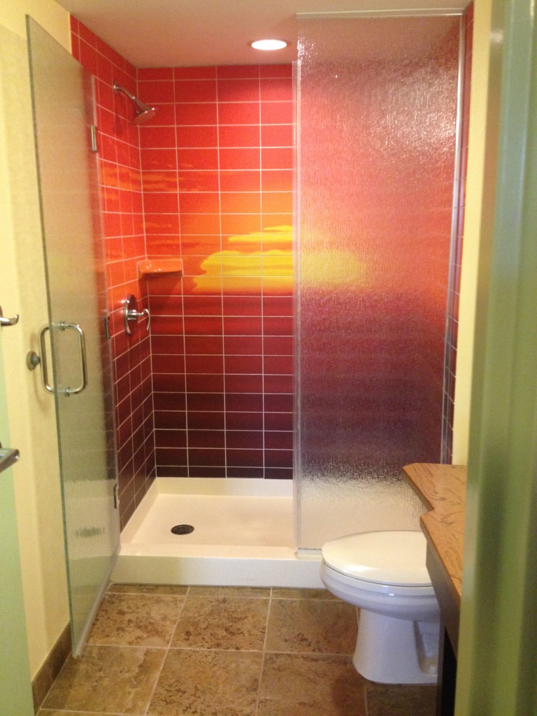 bathroom in art of animation room