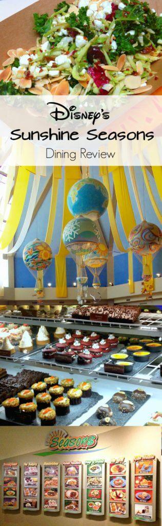 Disney's Sunshine Seasons dining review pinterest image