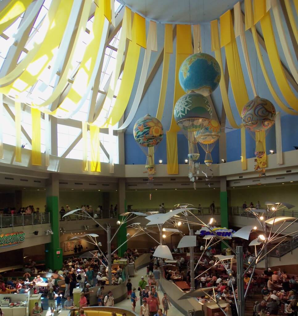 food court in Epcot's Future World