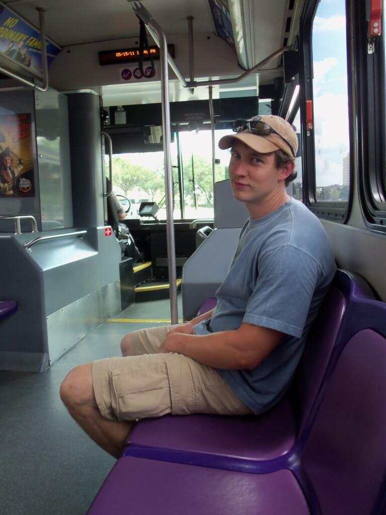 disney transportation - inside a disney bus