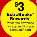 Download the CVS Mobile App and Earn $3 FREE ExtraBucks + Deal Idea for Free Olive Oil