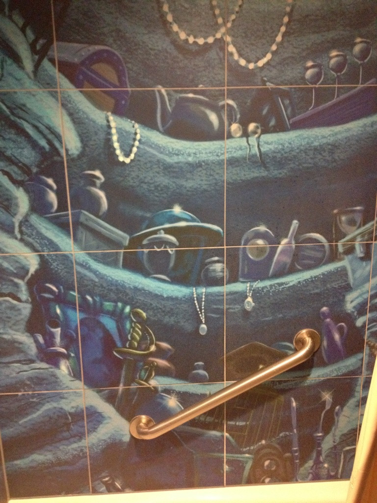 little mermaid themed bathroom at art of animation