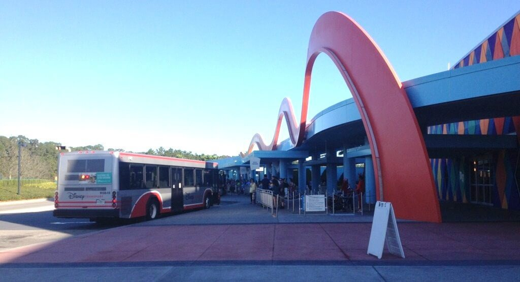 Bus service at the Art of Animation Resort