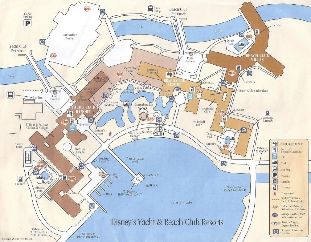 Dinsey's yacht and beach club map