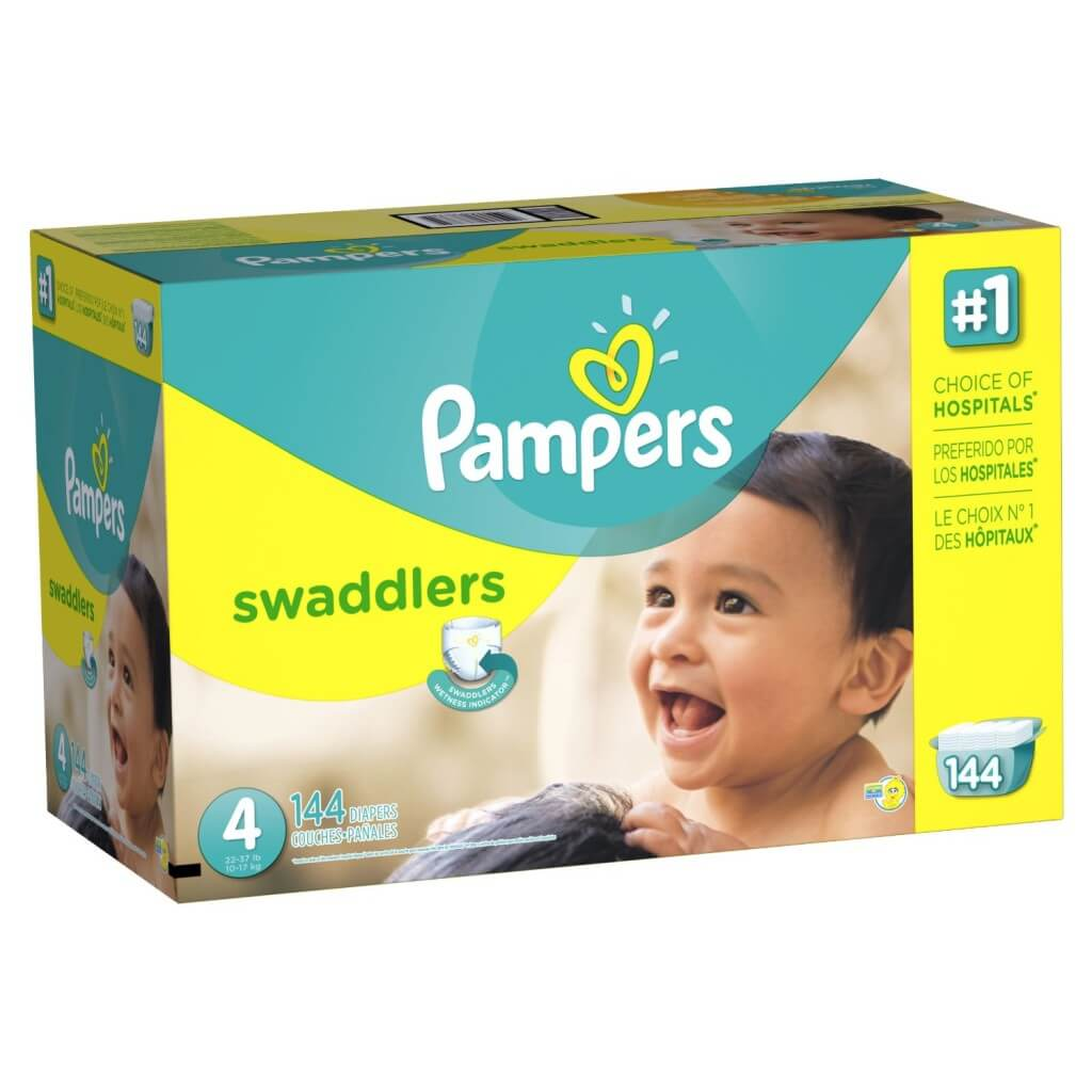 box of pampers diapers
