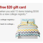 Create a Target College Registry & Get a $20 Gift Card