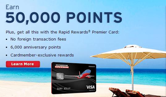 southwest rapid rewards chase visa sign in