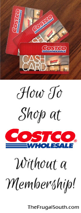 How to Shop at Costco without a Membership Pinterest Image