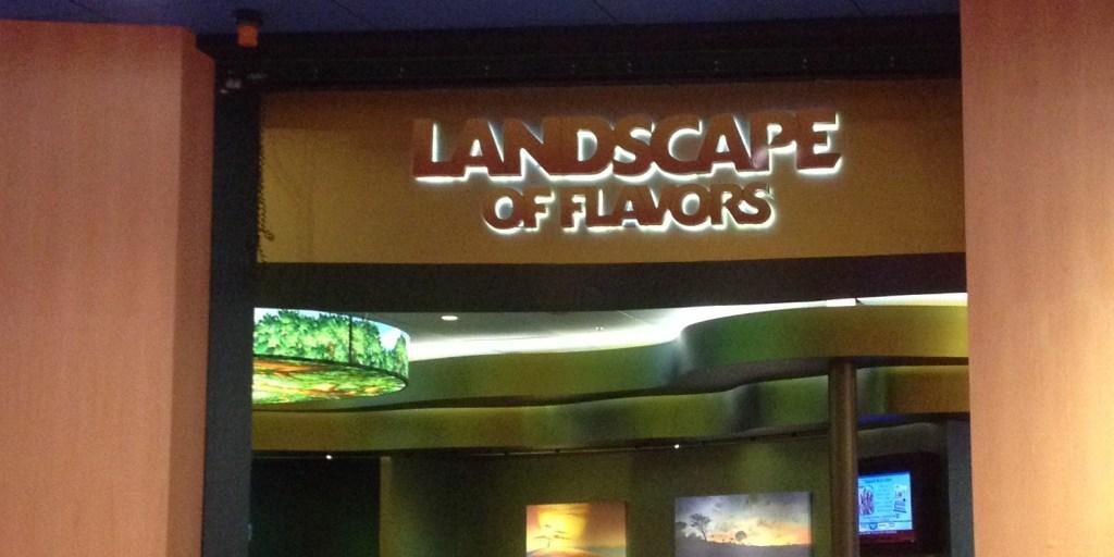 Landscape of Flavors Sign