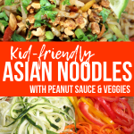 Asian Veggie Peanut Noodles – Easy & Kid-Friendly