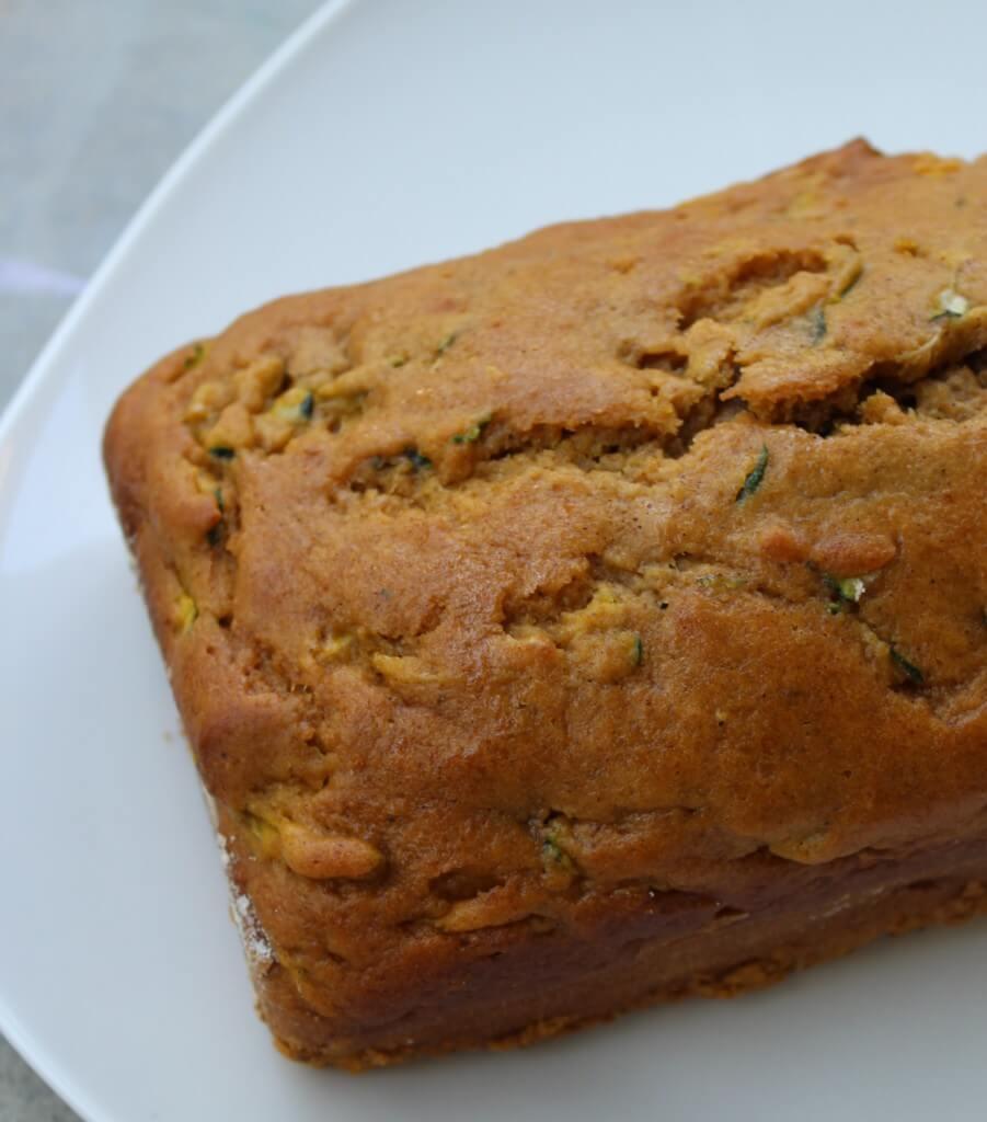 pumpkin zucchini bread Loaf