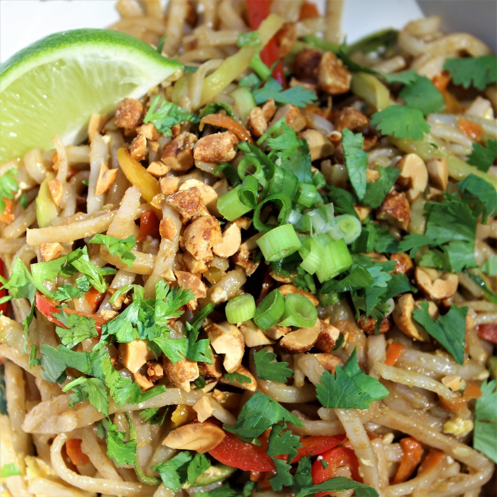 Asian Noodles with Peanut Sauce and Veggies