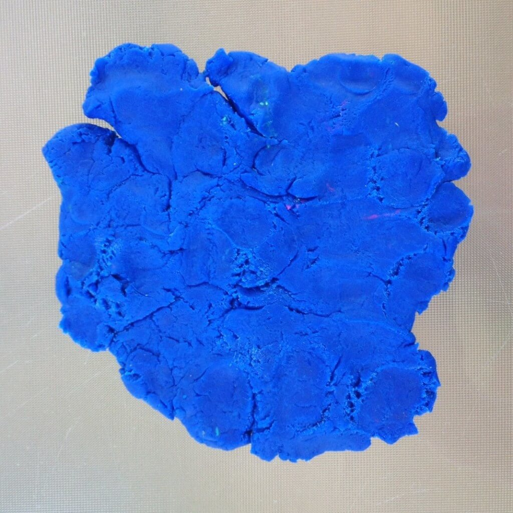 crusty dried out play doh flattened out