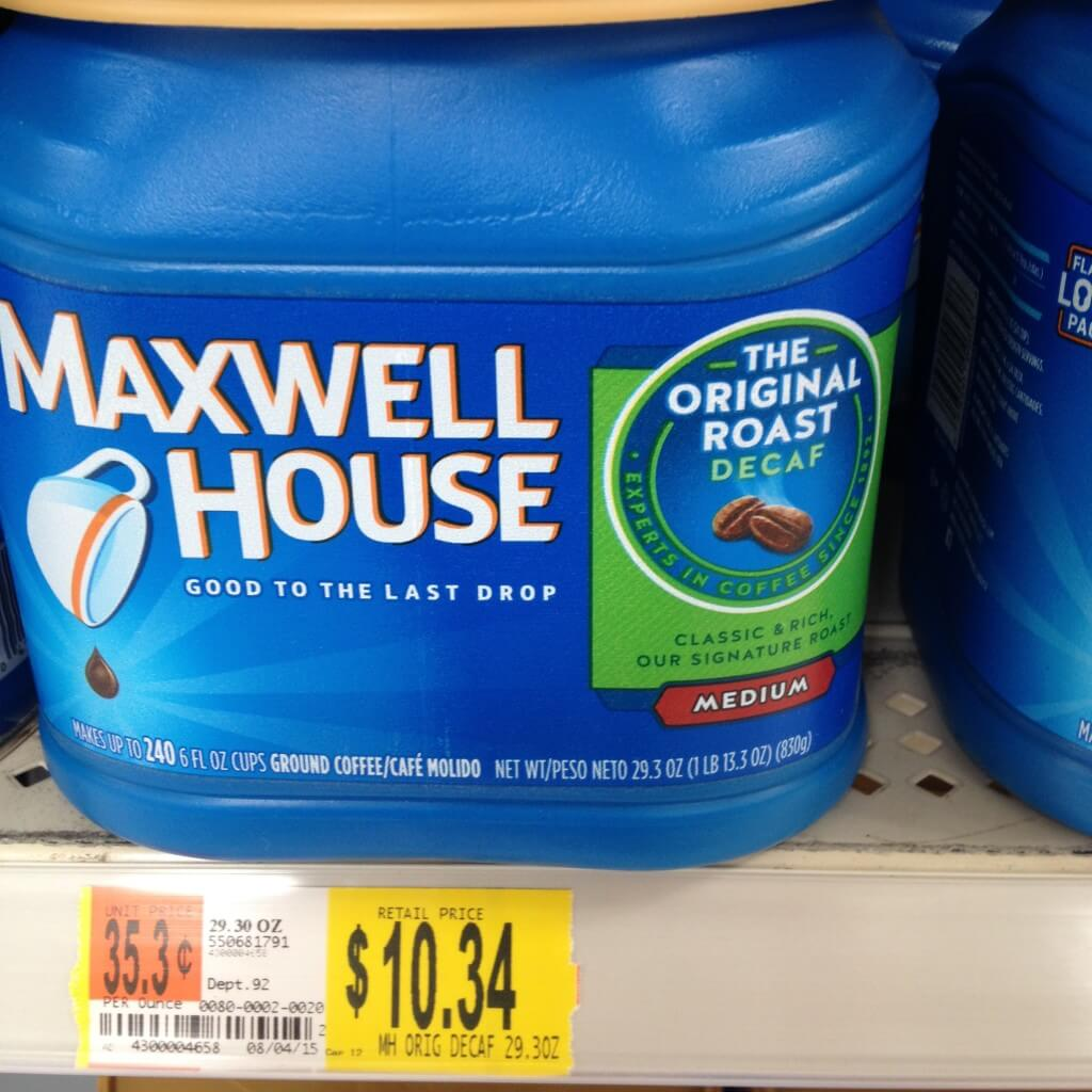 container of maxwell house coffee