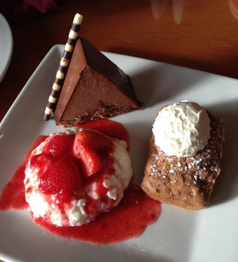 dessert plate at akershus royal banquet hall