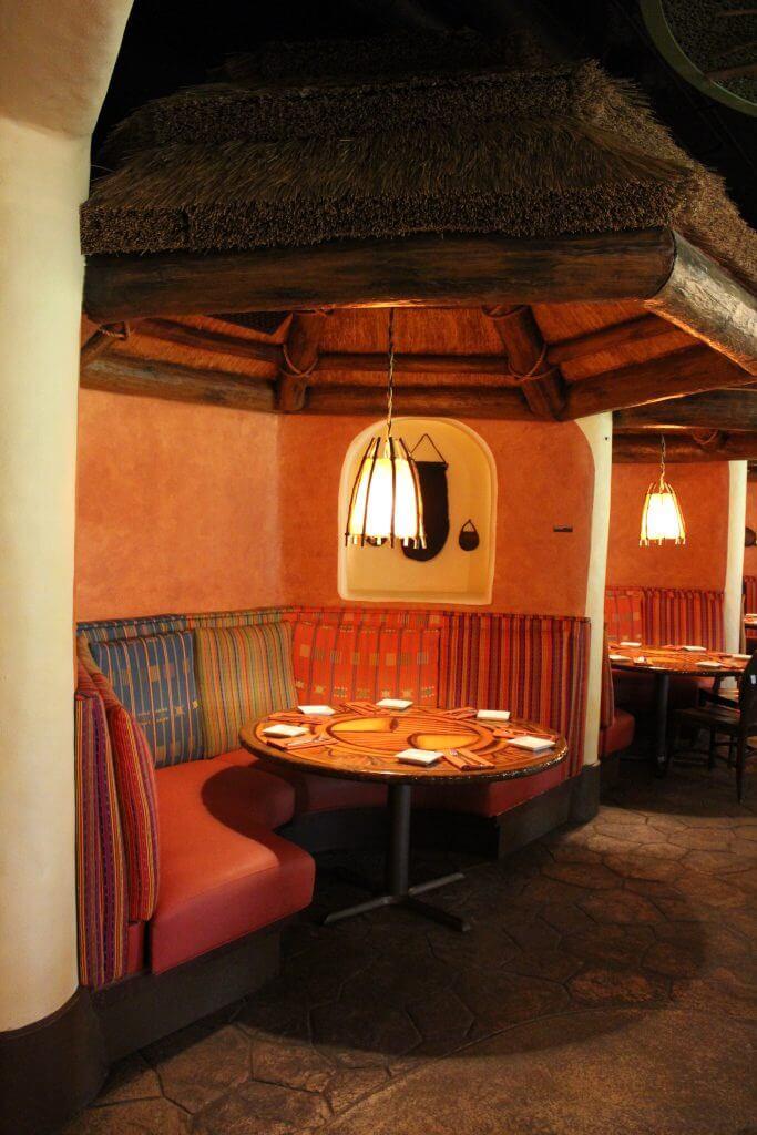 Table at Sanaa at Disney's Animal Kingdom Lodge