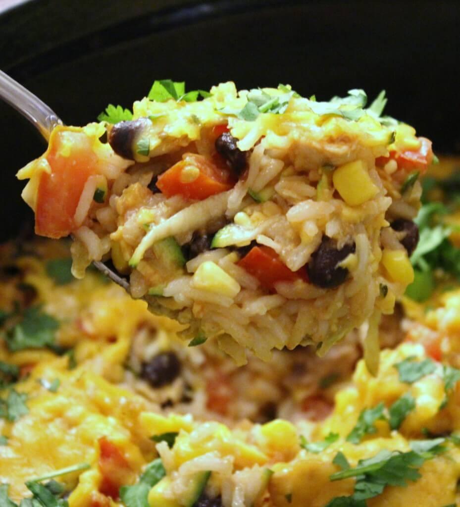 Southwest Black Bean, Rice and Veggie Casserole