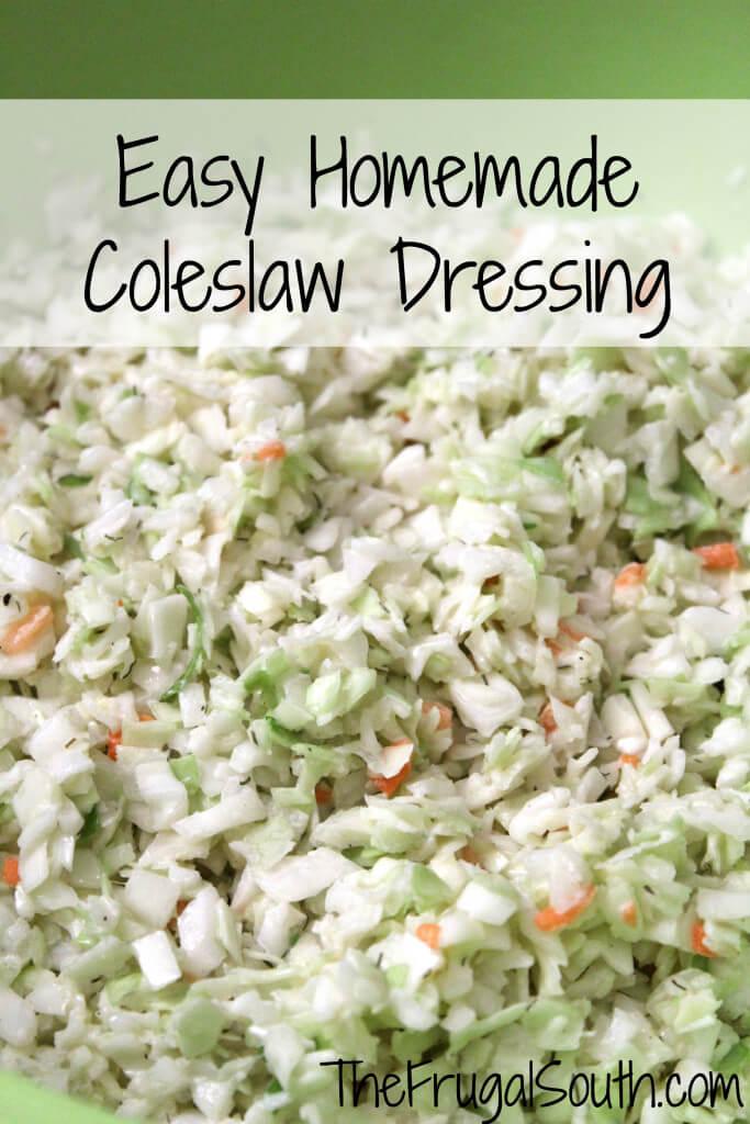 Easy Homemade Coleslaw Dressing Pinterest Image
