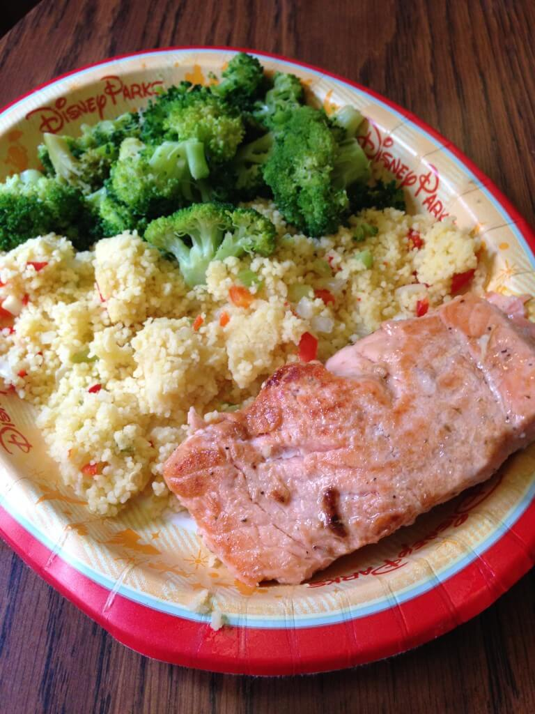 grilled salmon meal