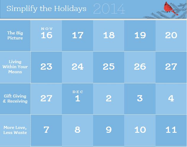 Simplify the Holidays Calendar