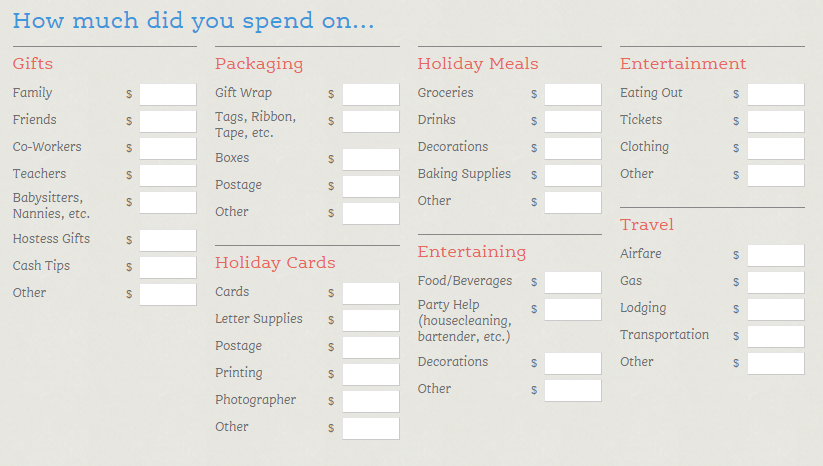 budgeting tool from New Dream