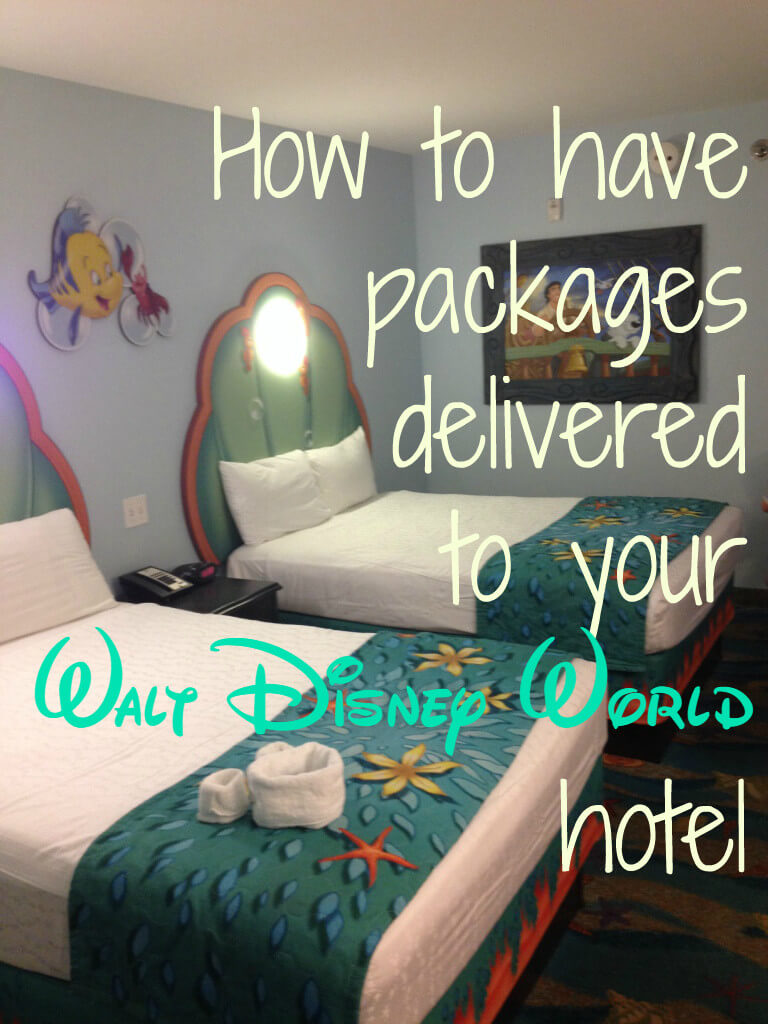 how to have packages delivered to your walt disney world hotel pinterest image
