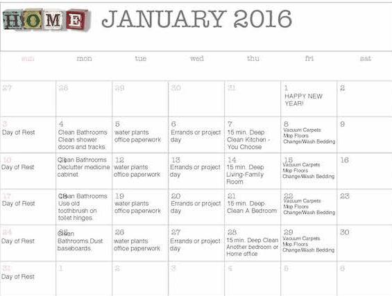 Organized Home Calendar