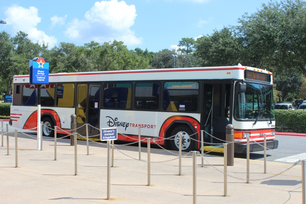 disney transportation - bus outside of a resort