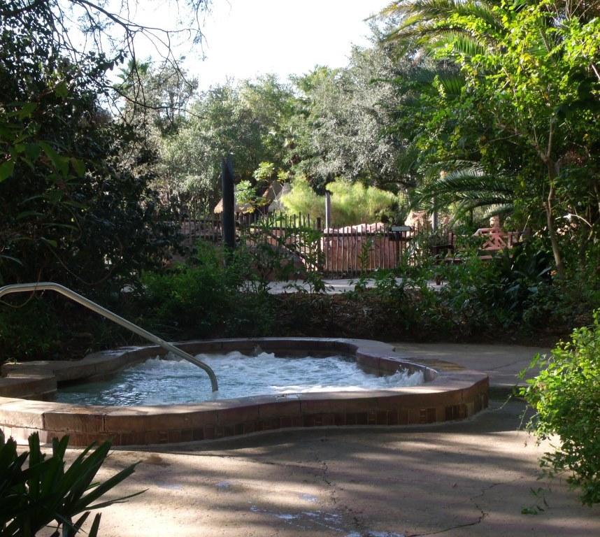 Hot tub at Jambo House