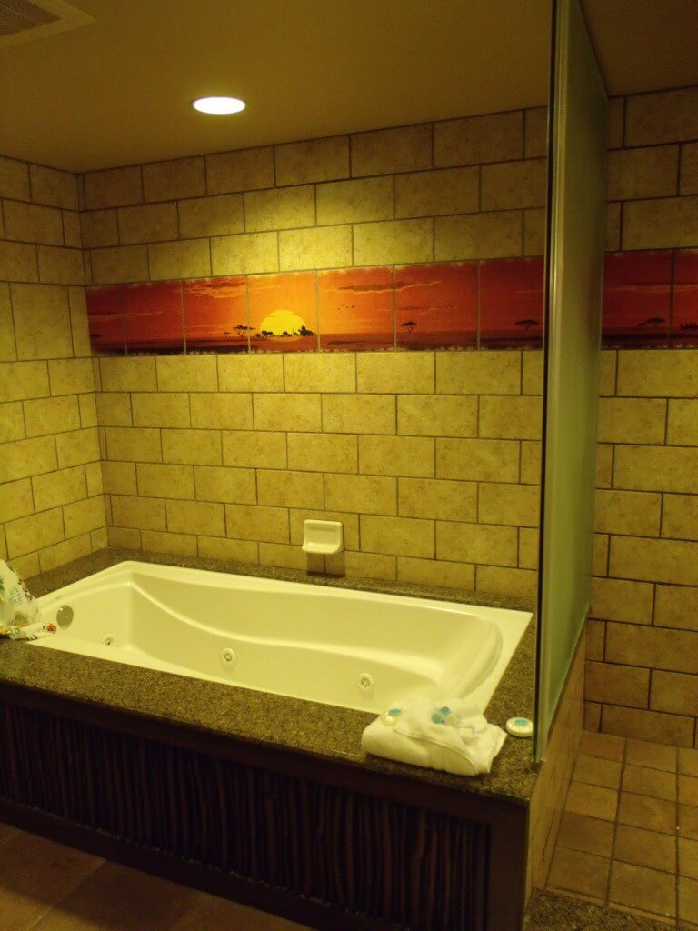 Spa Tub and Shower in a One Bedroom Villa