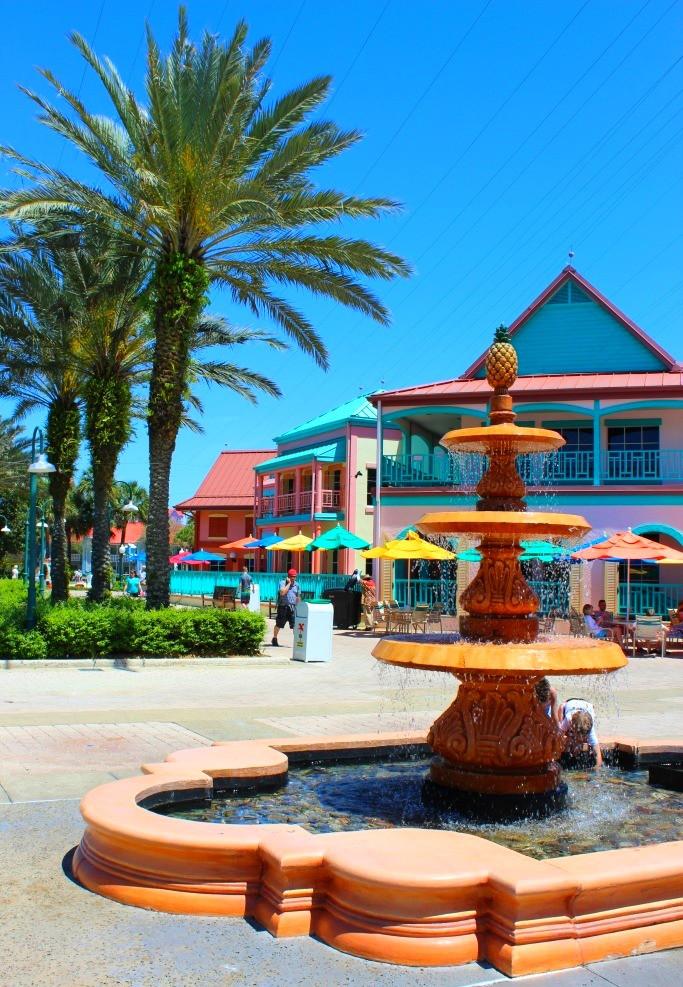 fountain at Disney's Caribbean Beach Resort