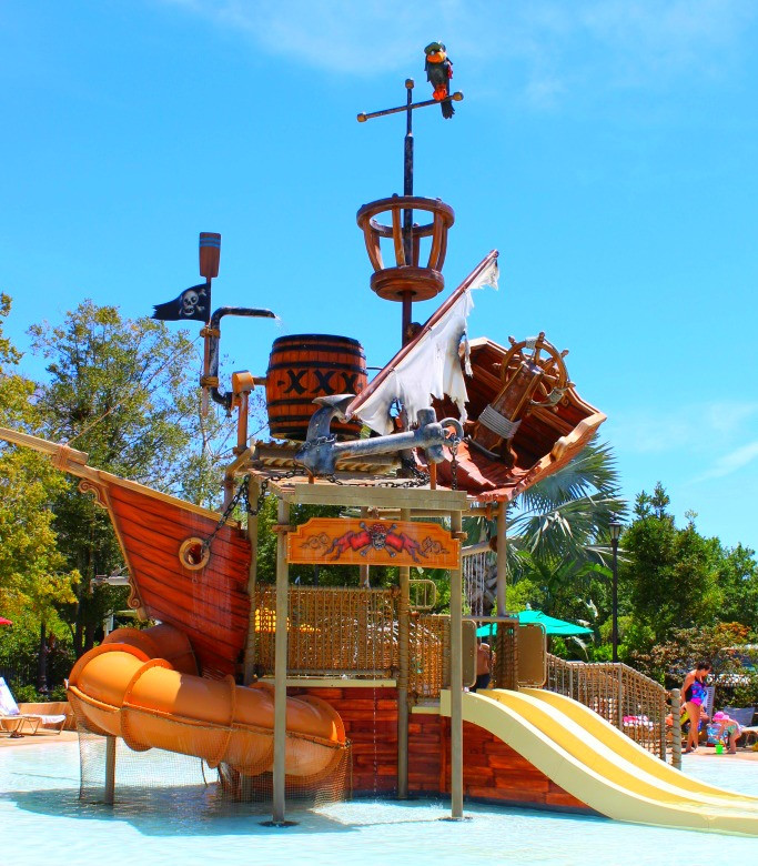 Pirate ship playground at Disney's Caribbean Beach Resort