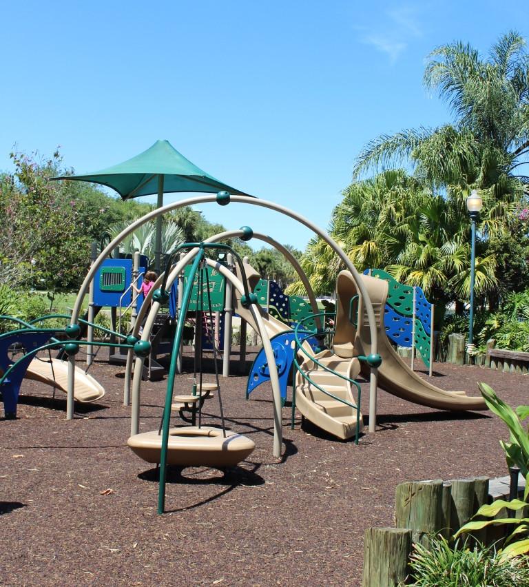 playground on caribbean cay