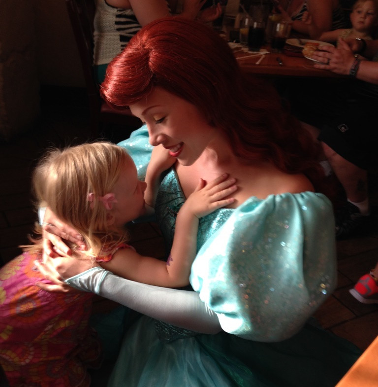 little girl with princess Ariel