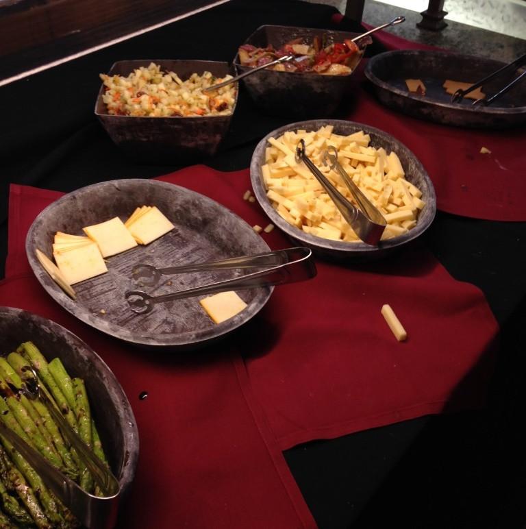 options at the food bar at Akershus