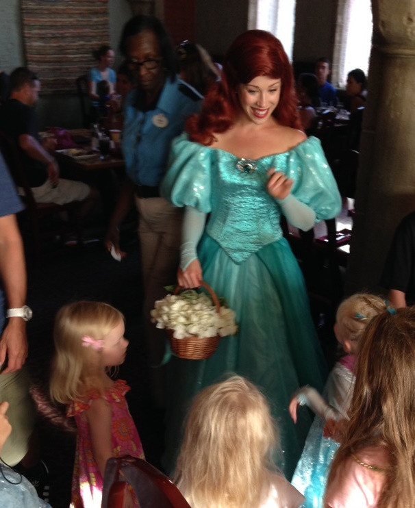 little girls around Ariel for the princess processional