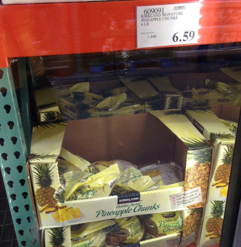 chunks of pineapple at costco