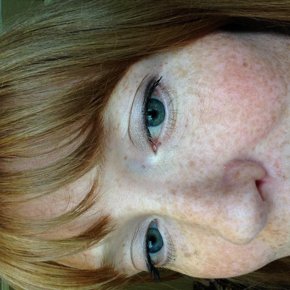 woman with mascara