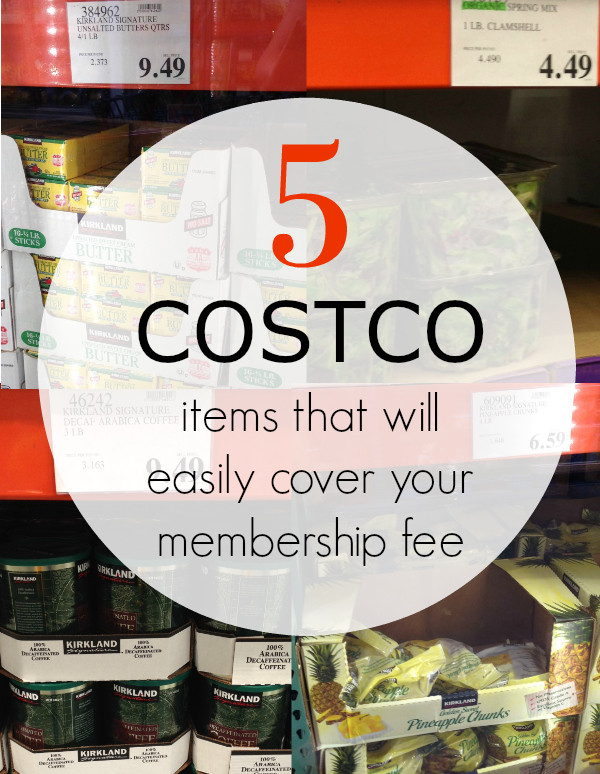 5 costco items that will easily cover your membership fee Pinterest image