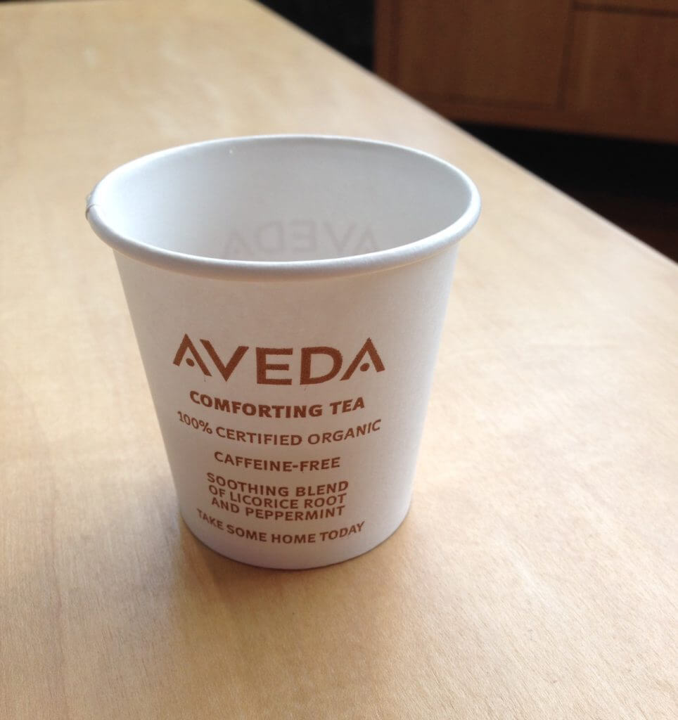 Aveda tea cup