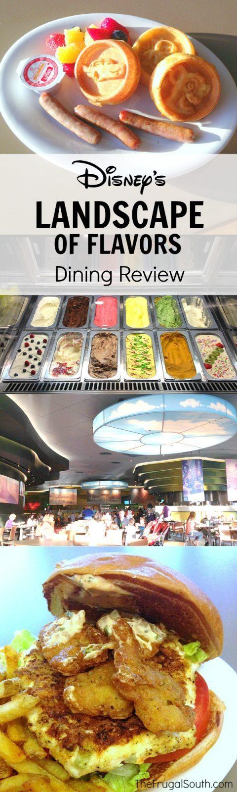 Disney's Landscape of Flavors Dining Review Pinterest Image