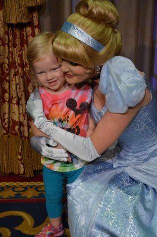 little girl meeting cinderella